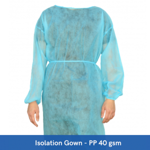 PhuTuong Isolation Gown PP 40gsm (Pack of 10)